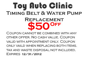 Toyota Timing Belt Coupon